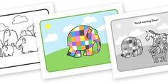 Elmer Story Sequencing - Elmer, Elmer the elephant, resources, Elmer story, patchwork elephant, PSHE, PSE, David McKee, colours, patterns, story, story book, story book resources, story sequencing, story resources, sequencing