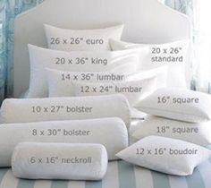 Choosing the Standard Pillow Form Sizes: Standard Pillow Form Sizes ~ latricedesigns.com Bedroom Inspiration