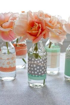 DIY bottles for flowers