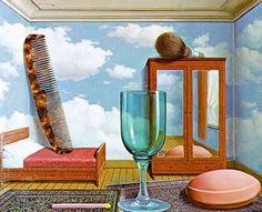 Rene Magritte Les valeurs personelles (Personal Values) 1952, Series 2  (1333×1080)