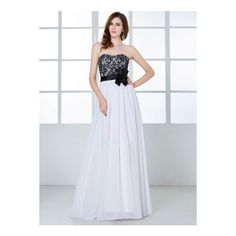 Strapless Lace Floral Waist Long Prom Dress (235 BRL) ❤ liked on Polyvore featuring dresses, white, prom dresses, maxi dresses, long formal dresses, long prom dresses and lace maxi dress