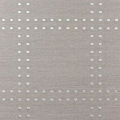 Phillip Jeffries Grasscloth and Rivets Wallpaper - LOVE