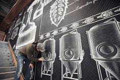Sierra Nevada Chalk Mural on Behance                                                                                                                                                                                 Más
