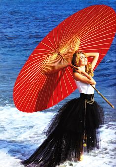 Claudia Schiffer for Chanel, S/S 1992 by Karl Lagerfeld