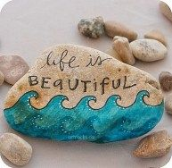 99 DIY Ideas Of Painted Rocks With Inspirational Picture And Words (56)