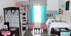 Custom Dorm Room Bedding | Teen Girl Bedroom Decor | Decor 2 Ur Door. Designer your own room from top to bottom. Made in the USA