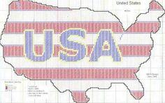 United States Patriotic Map