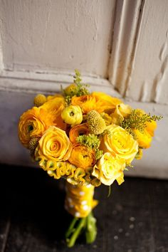 Yellow Bridal Bouquet! and its dark yellow!