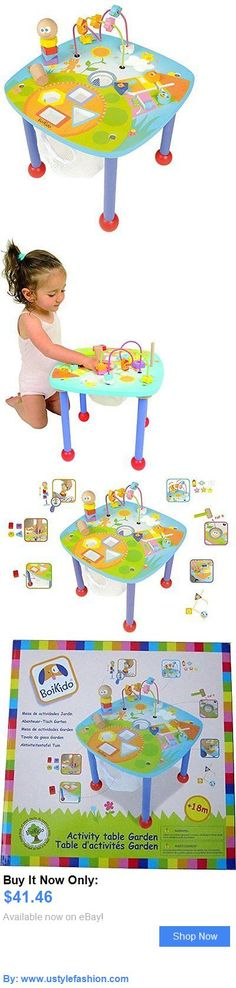 Developmental Baby Toys: Boikido Wooden Activity Table BUY IT NOW ONLY: $41.46 #ustylefashionDevelopmentalBabyToys OR #ustylefashion Baby Girl Toys, Toys For Girls, Garden Table, Activities, Girls Toys