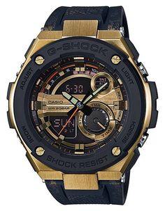 Casio Mens G-Shock G-Steel Watch - Ana-Digi - Gold & Black Dial - 200m - LED