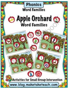 Apple Orchard- Word Families from Make Take Teach on TeachersNotebook.com (15 pages)