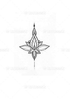 lotus flower ornamental tattoo