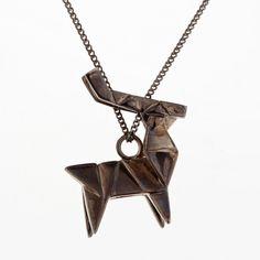 origami jewellery | Sautoirs Argent canon de fusil