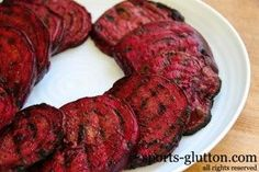 Grilled Beets -- links to a grilled beets burger...oh my gosh