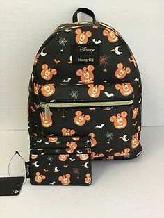 Disney Halloween, Mickey Mouse Halloween, Disney Mickey Mouse, Disney Fun, Disney Handbags, Disney Purse, Disney Dooney, Nightmare Before Christmas Backpack, Mickey Mouse Pumpkin