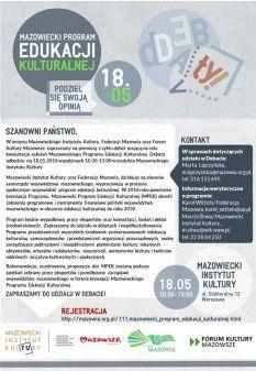 Mazowiecki Program Edukacji Kulturalnej - Konsultacje!