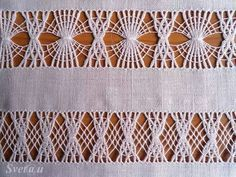havva bayraktar's media content and analytics Hardanger Embroidery, Hand Embroidery Stitches, Monks Cloth, Japanese Sewing, Drawn Thread, Girls Bows, Flower Tutorial, Rug Hooking, Stitch Patterns