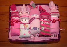 diaper babies - Windelbabys 'Bordeaux', von Windeltorten By Evi auf DaWanda.com