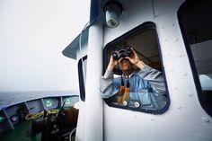 Au Canada, avec les chasseurs d'icebergs : La fenêtre de tir est étroite : trois mois, de juin à août Jack Huffman, le cousin du capitaine Kean, scrute les flots sombres. Plus l'été avance, plus les chasseurs poussent vers le nord pour localiser «the One», la cible parfaite. Ils n'ont que la saison estivale pour remplir leurs six réservoirs, et récolter un million de litres d'eau