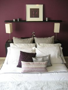 Burgundy Bedroom Color Schemes Awesome Burgundy Bedroom Ideas Maroon Rooms Room Interior and Maroon Bedroom, Plum Bedroom, Burgundy Bedroom, Burgundy Walls, Bedroom Wall Colors, Accent Wall Bedroom, Bedroom Color Schemes, Home Bedroom, Bedroom Decor