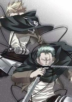 Zoro and sanji - shingeki no kyojin