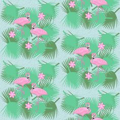 flamingo fabric by krs_expressions on Spoonflower - custom fabric and wallpaper