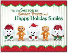 Jolly And Sweet Holiday 4-Up Laser Card | SmartPractice Dental