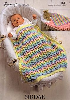 Wiggly Crochet Blanket - Purchased Crochet Pattern - (karpstyles)