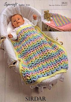 Wiggly Crochet Blanket - Purchased Crochet Pattern - (karpstyles)
