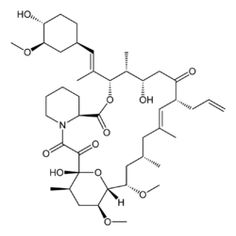 Tacrolimus (also FK-506 or fujimycin, trade names Prograf, Advagraf, Protopic) is an immunosuppressive drug that is mainly used after allogeneic organ transplant to reduce the activity of the patient's immune system and so lower the risk of organ rejection. It is also used in a topical preparation in the treatment of atopic dermatitis (eczema), severe refractory uveitis after bone marrow transplants, exacerbations of minimal change disease, and the skin condition vitiligo.