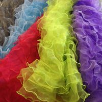 Product detail for Delicates, Ruffle Organza on Mesh fabric for sale $13.00/yard in Los Angeles, California