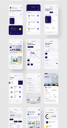 Propoto UI Kit — UI Kits on - Expolore the best and the special ideas about Interface design Web Design Mobile, Mobile Application Design, App Ui Design, Interface Design, Design Design, Flat Design, Ui Kit, Android App Design, App Design Inspiration