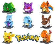 Pokemon Figures Model Toys Pikachu Charmander Bulbasaur Squirtle Mewtwochild Eevee Child Christmas gift 9+ Anime Building Blocks