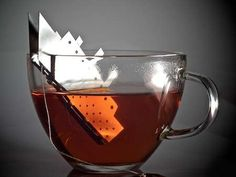 The TEA.tanic Tea Bag Holder is Iconic #icecubes #colddrinks trendhunter.com