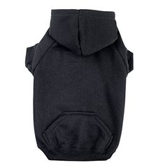 """Zack and Zoey Basic Hoodie for Dogs, 20"""" Large,  Jet Black -- Details can be found by clicking on the image."""