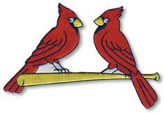 St. Louis Cardinals Red Birds on Bat Logo Patch Jersey