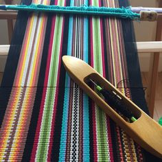 A loom, many meters of yarn, a project and a lot of patience...