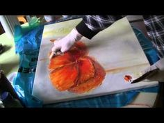 Mohnblüte malen lernen Teil2 Poppies acrylic painting demo part 2 - YouTube