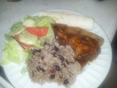 plantains chicken mole chicken and black beans n rice.. My Cuban ...