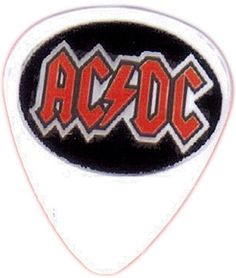"""myLife Hard """"Round Tip"""" Guitar Pick {AC/DC Logo - Great for Acoustic and Electric Guitar} [Single Pick] myLife Brand Products http://www.amazon.com/dp/B00V7D5MJS/ref=cm_sw_r_pi_dp_S5hfvb0FW2S5B"""