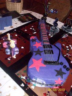 Guitar Cake  Alexandra's 13th Birthday Cake