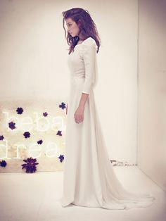 Vestidos de novia sencillos de invierno