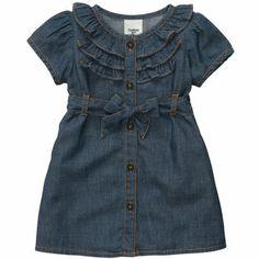 a3aec352b8c5 Short-Sleeve Chambray Dress Set Size 9 month  21 on OshKosh web-site Frocks