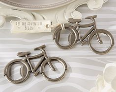 Kate Aspen Let's Go On An Adventure Bicycle Bottle Opener Best Offer. Best price Kate Aspen Let's Go On An Adventure Bicycle Bottle Opener. Made of metal with a pewter wrap up. Accompanies a texture tag. Grommet in bike wheel goes about Wedding Favors And Gifts, Creative Wedding Favors, Inexpensive Wedding Favors, Beach Wedding Favors, Wedding Ideas, Wedding Venues, Rustic Wedding, Luxury Wedding, Wedding Reception