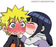 Chibi Naruto & Hinata. So cute!