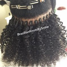 Brazilian Knots used Kinky Curly hair to do Brazilian knots. Although we don't stock bulk hair this customer just cut the hair off the weft. Black Girls Hairstyles, African Hairstyles, Afro Hairstyles, Kinky Curly Hair, Curly Hair Styles, Natural Hair Styles, Black Girl Braids, Girls Braids, Pelo Afro