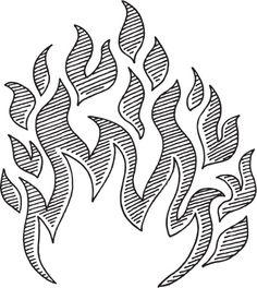 Flame Symbol Drawing