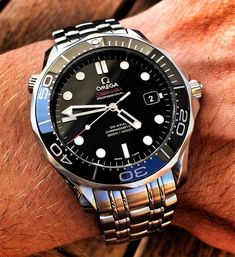Omega Seamaster Diver 300m - couple watches, gold watch mens, latest watches online shopping *ad #menswatchesomega