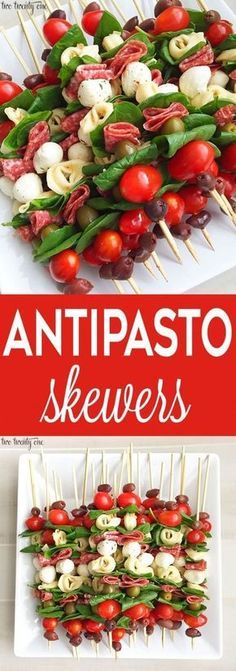 Antipasto Skewers Antipasto skewers = easiest appetizer EVER. Currently I& Skewers Antipasto skewers: easy to make and perfect for any occasion. These antipasto skewers are excellent appetizers for parties, picnics, and more!Eat Stop Eat To Loss Weight - Quick Recipes, Fall Recipes, Cooking Recipes, Special Recipes, Amazing Recipes, Skewer Recipes, Appetizer Recipes, Appetizer Skewers, Fruit Skewers