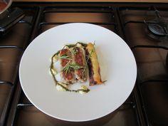 JHS  / Saucisse de porc cannolo de pommes de terre au ratatouille et  sauce  tartare Gino D'Aquino